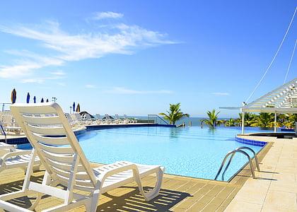 landskap, Hotel, Resort, landskap, Horisont, hotell, pool