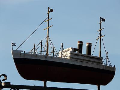 fartyg, ångaren, kryssningsfartyg, skorsten, Boot, masterna, havet
