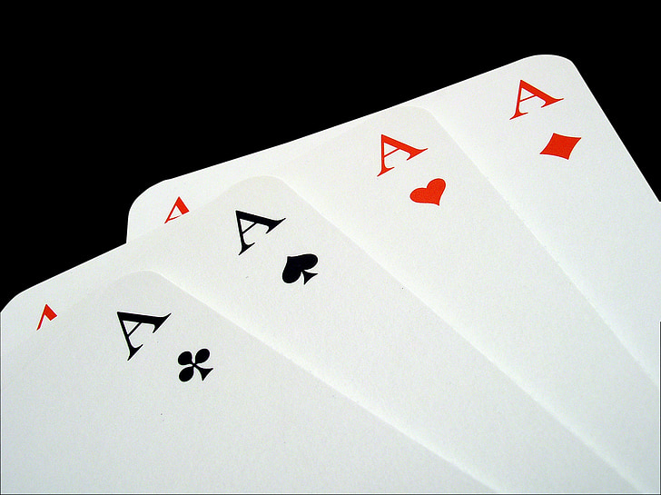 Aces, Poker, hazardní hry, hrací karty, hrát, TRUMPF