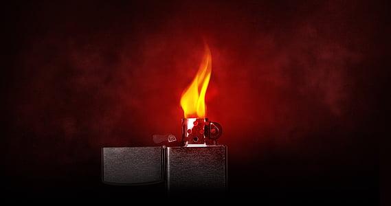 encenedor, flama, cremar, Kindle, llum, càlid, Zippo