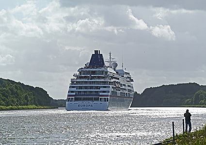 Nordamerika, Crusaders, passagen, Kiel-hamburg, Europa, passagerarfartyg, kryssningsfartyg