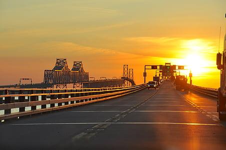 Maryland, Sonnenuntergang, Brücke, Architektur, Architekturdesign, Struktur, Design