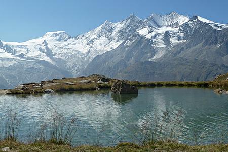 Suïssa, naturalesa del Valais, món de la muntanya, muntanya, natura, Llac, paisatge