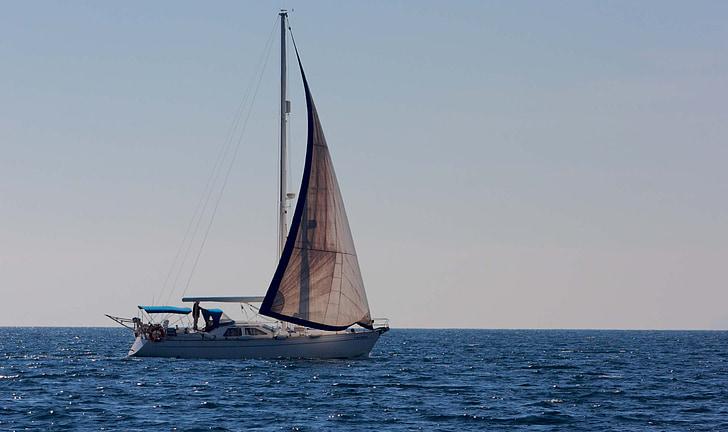 boat, sailboat, sea, ocean, wind, sailing, sailing boat