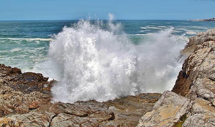 Republika Południowej Afryki, Wybrzeże, fala, morze, Surf, Rock, Ocean
