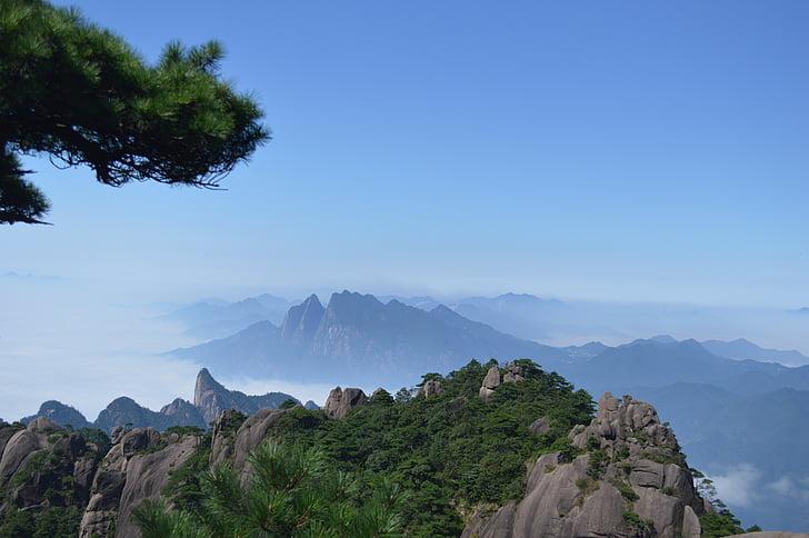mgła, krajobraz, góry, Natura, na zewnątrz, skalista góra, sceniczny