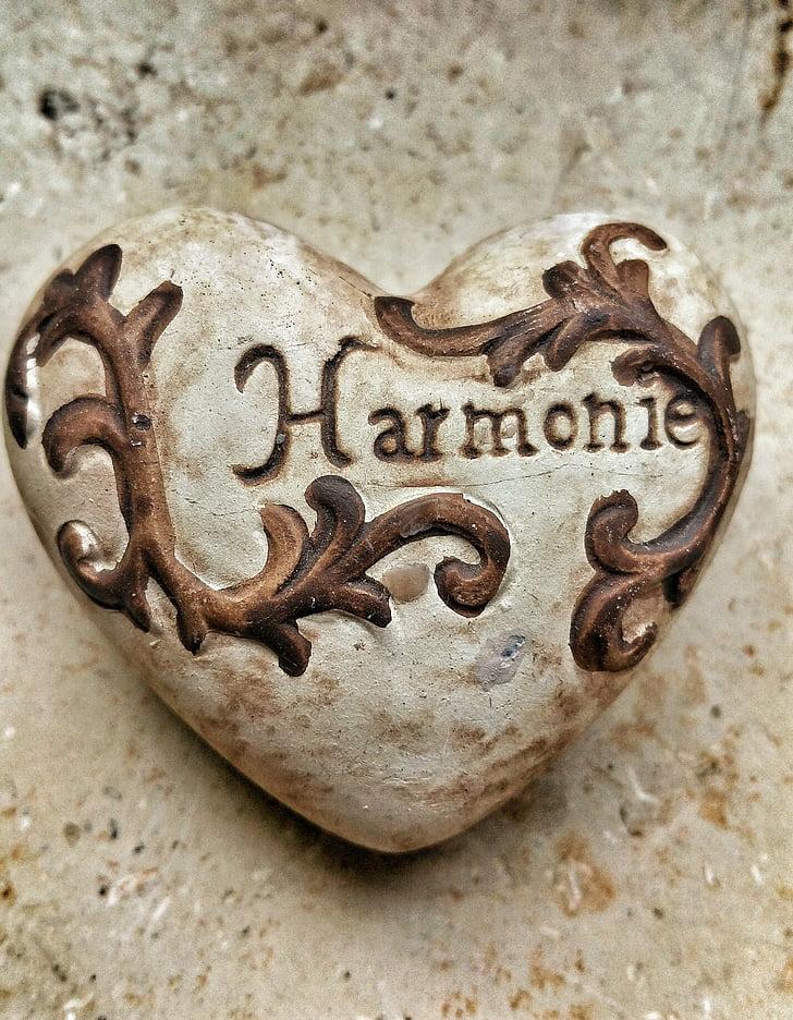 širdies, Harmonija, meilė, balansas, laimingas, senas, antikvariniai