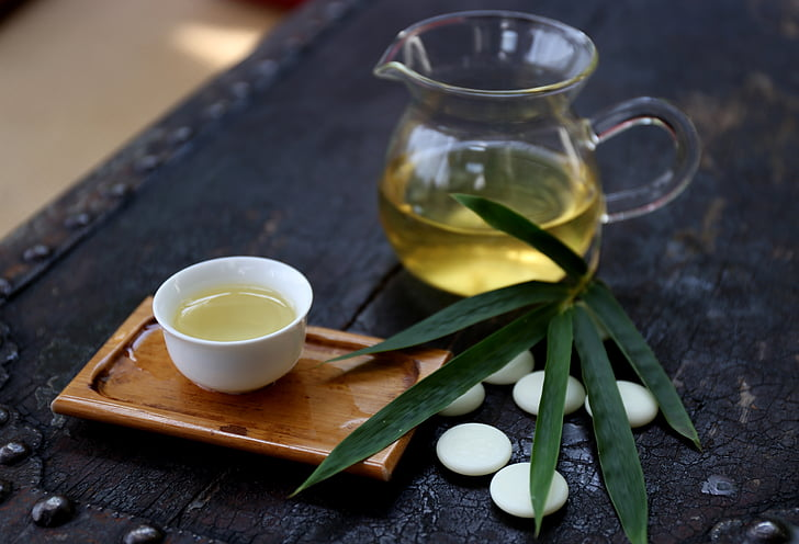 tea, bamboo, go, leisure, food, cup, freshness