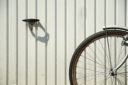 velosipēds, velosipēdu riepas, Garāža, vecāki, profils, spieķi, rats