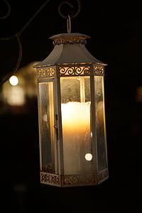 lykt, natt, lys, mørk, lampe, belysning, kveld