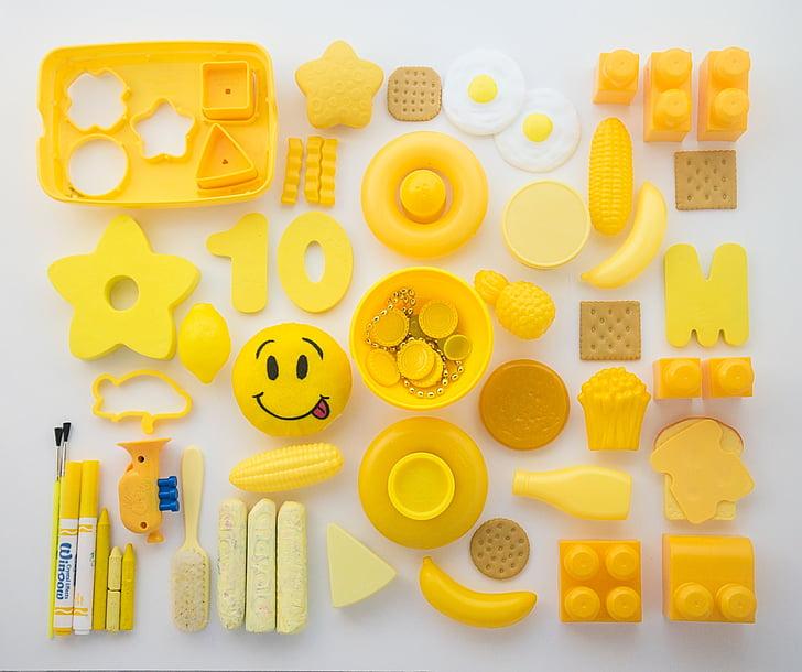 жовтий, іграшки, малюк, грати, дитинство, творчі, дизайн