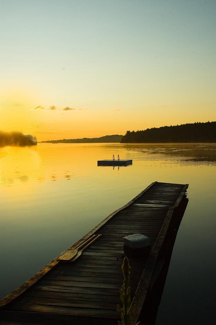 docka stuga, morgon, soluppgång, solnedgång, semester, resor, sommar