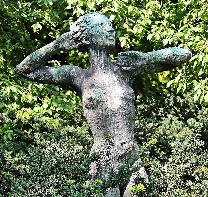 dona, dona nua, escultura, Art, figura de pedra, estàtua, femella