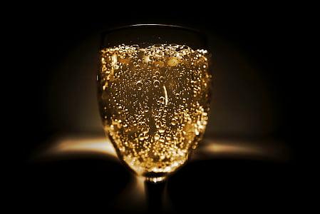 l'alcohol, alcohòliques, barra, entelar, ampolla, celebració, xampany