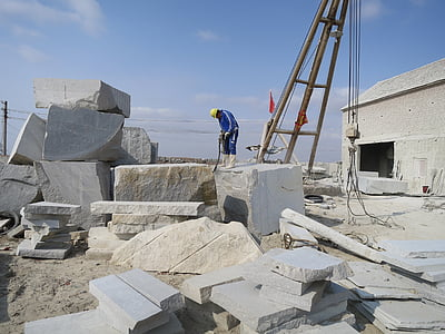 stone, processing, factory, the scene, china, shandong