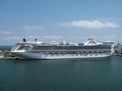 cruiseskip, Cruise, sjøen, hav, reise, ferie, båt