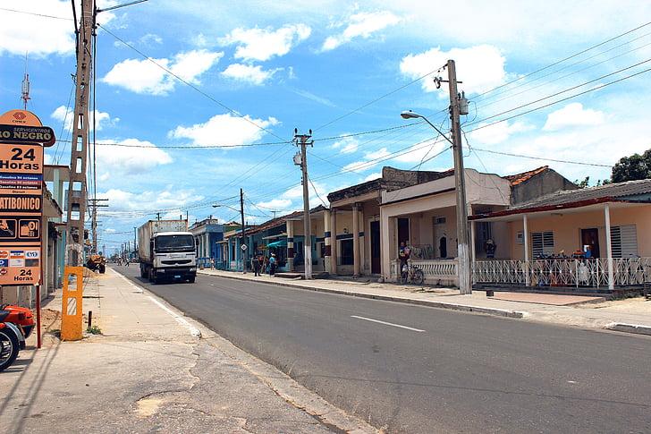 Jatibonico, Sancti spiritus, Cuba, Street, cảnh quan thành phố, thành phố, đô thị