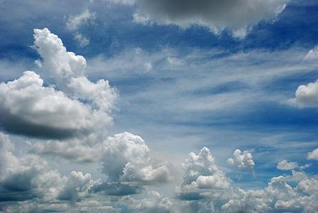 taivas, pilvet, Luonto, pilvet taivas, ympäristö, Cloudscape, Sinitaivaan pilvet