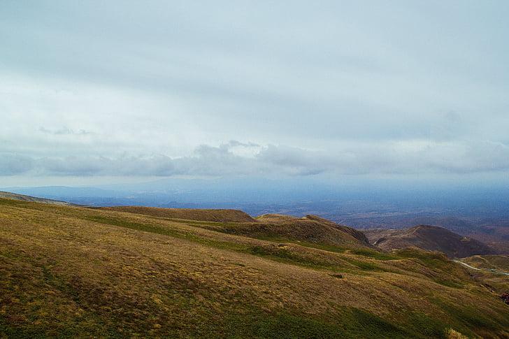 província Jilin, muntanya Changbai, vessant oest, altiplà, núvols, visió, sense fi