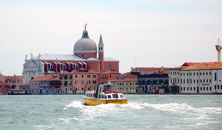 italy, travel, excursion, buildings, boat trip, leisure, summer