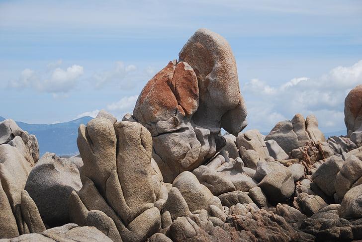 Rock, sten, struktur, naturen, naturliga stenar, Korsika, Rock - objekt
