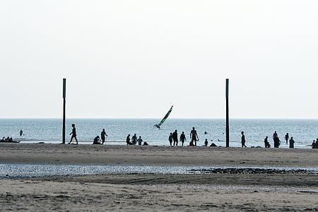 назад свет, пляж, песчаный пляж, плавать, Святого Петра, Ординг, катамаран