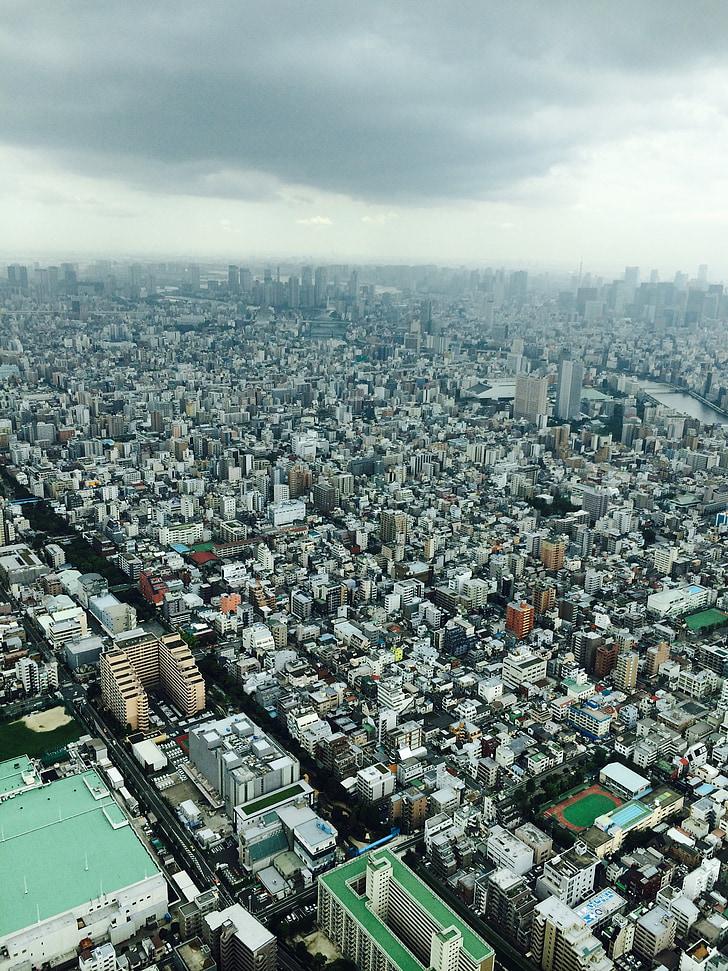 Tokyo, Stadt, Tokyo Sky tree, Tourismus, Vogelperspektive, Japan, Landschaft