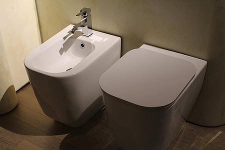 raccords sanitaires, WC, bidet, toilette, Vater, hygiène, céramique