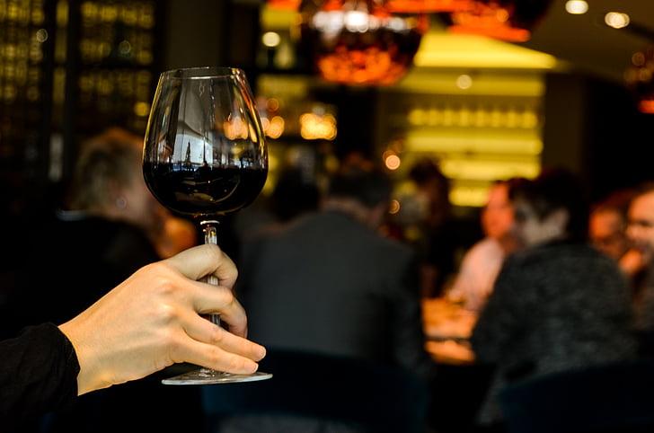 alkoholi, alkohoolsed, õhtusöök, joomine, sõbrad, klaas, rühm