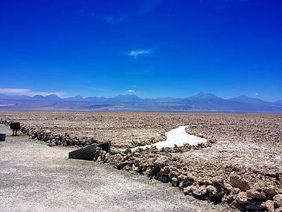 Desert, soola, mäed, kuiv, soolajärv, Tšiili, Lõuna-Ameerika