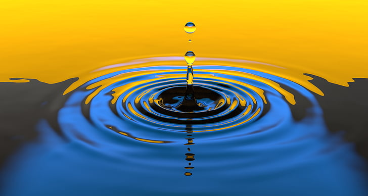 víz, csepp, folyadék, Splash, nedves, tiszta, törölje a jelet