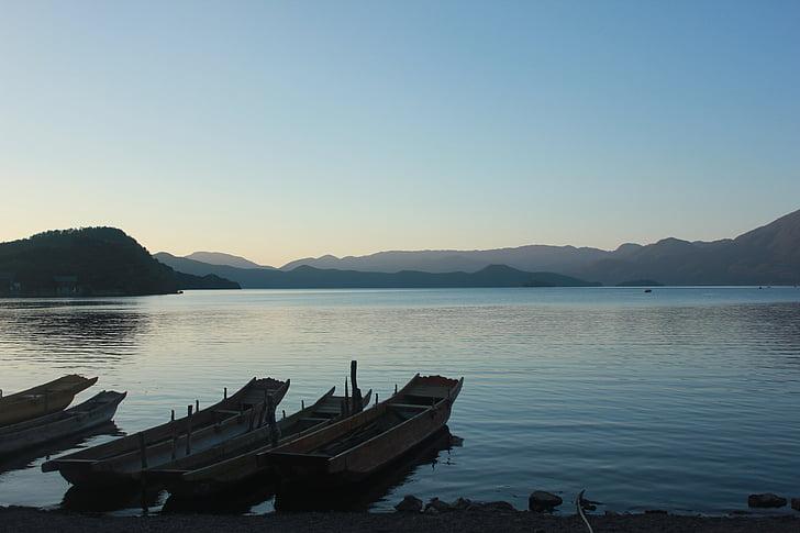 Lijiang, Lugu lake, landskap, landskap, sjön