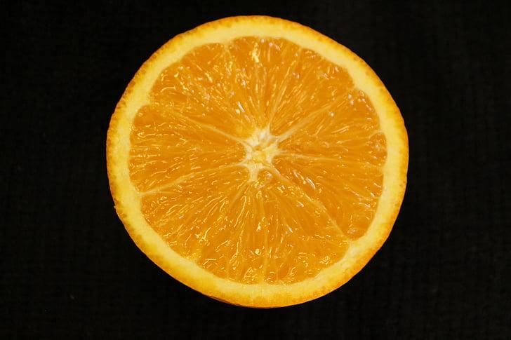 Orange, plátok, ovocie, jedlo, šťavnaté, rez, Citrus