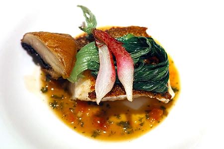 aliments, cuina, Restaurant, francès, cuina francesa, plats de peix, lingcod