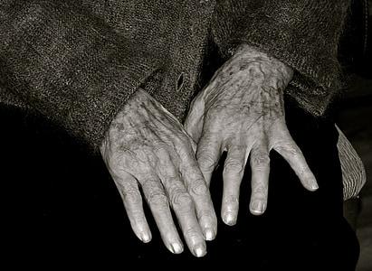elderly woman, grandmother, age, senior Adult, human Hand, people, wrinkled