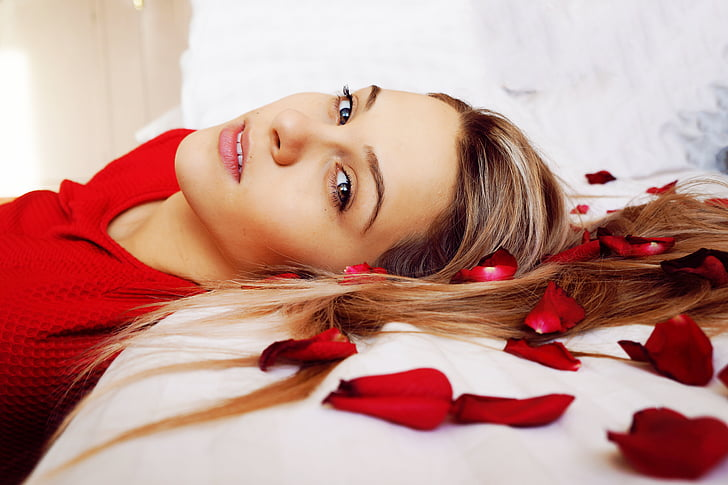 attractive, beautiful, beauty, bed, bedroom, face, fashion
