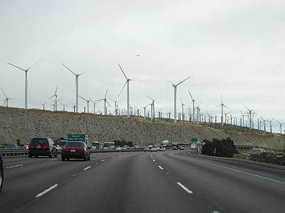 energia eòlica, turbina de vent, carretera, energia alternativa, carrer, trànsit