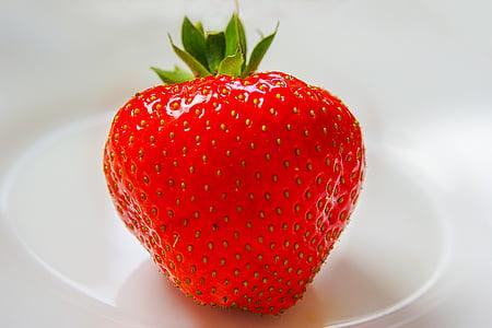 maasikas, puu, punane, Armas, küps, aedmaasikas, maitsev