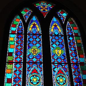 Vitrall, l'església, finestra, religió, religiosos, veneració, voltat