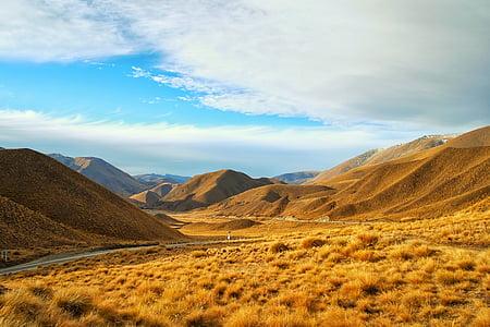 barren, desert, dry, hills, landscape, mountains, nature