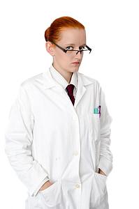 naine, mantel, Tüdruk, inimesed, labor, Lab, nägu