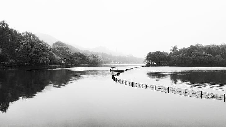 Hangzhou, West lake, Ching ming, skib