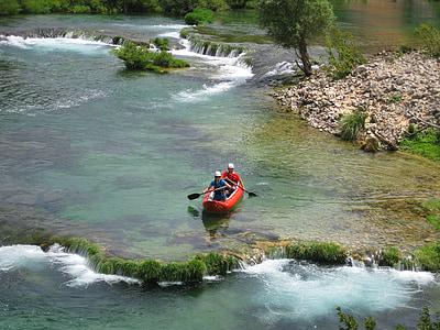 paddle, canoeing, kayak, canadians, canadian canoe, croatia, zrmanja