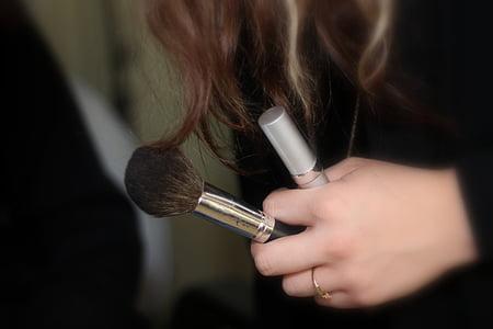 化妆, 笔刷, 笔刷, 化妆, 女性
