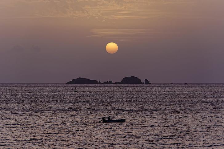 εκκίνησης, ηλιοβασίλεμα στη θάλασσα, abendstimmung, ατμόσφαιρα