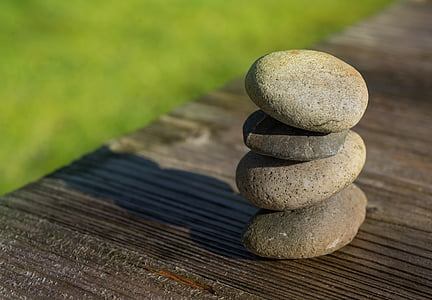 pedras, seixos, natureza, jardim, decoração, equilíbrio, natural