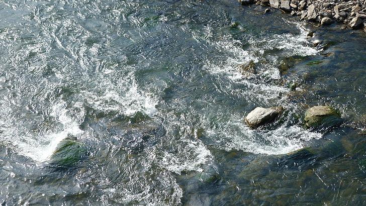 riu, cursos d'aigua, natura, actual, l'aigua