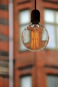 glödlampa, ljus, energi, päron, lampan, glödlampor, bräckliga