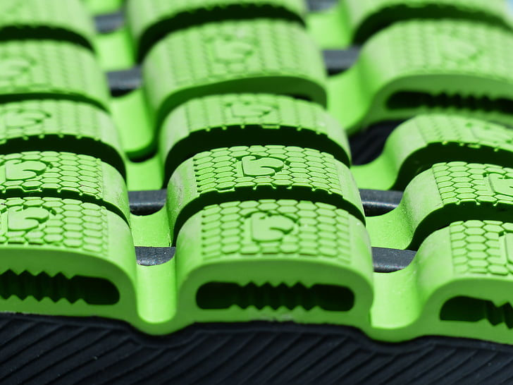 sole, green, rubber lining, suspension, damping, rubber, grip