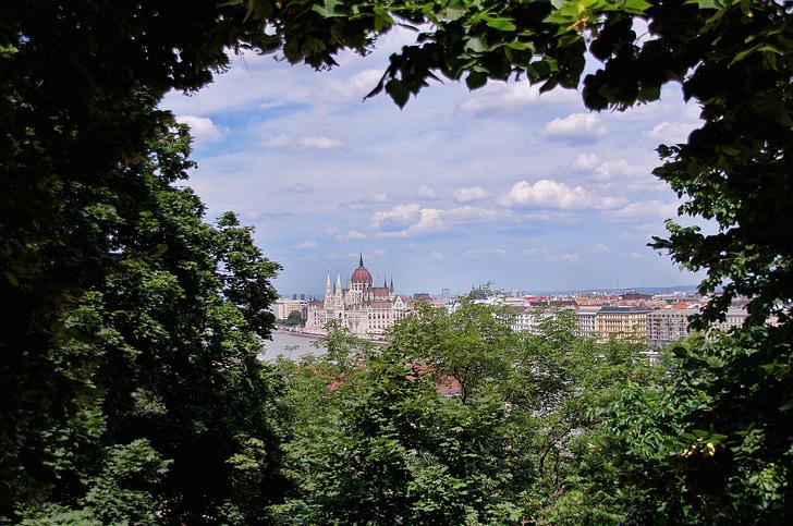 Panorama, Budapest, thành phố, toàn cảnh thành phố, Outlook, chuyến đi thành phố, Hungary
